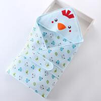 婴儿抱被春夏薄款纯棉新生儿小鸡夏季睡袋初生宝宝用品包被抱毯 90*90