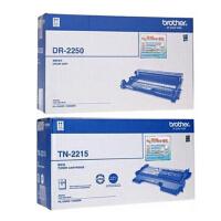 原装兄弟 Brother TN-2215标准容量黑色墨粉盒 TN-2225 超大容量墨粉盒 DR-2250黑色硒鼓 适