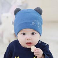 宝宝帽子秋冬加厚0-3-6-12个月婴儿套头帽男女宝宝保暖帽加绒