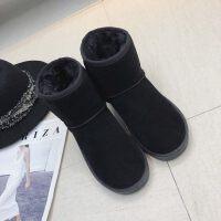 雪地靴女短筒学生皮毛一体一脚蹬短靴冬季新款面包鞋潮