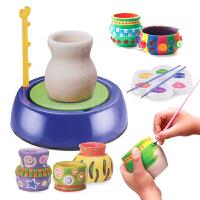 儿童玩具小学生电动软陶泥粘土陶艺机 幼儿园手工制作diy教具套装 陶泥机+2块陶土