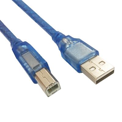 适合信捷touchwin 触摸屏数据线/下载线/编程电缆方口数据线 透明蓝