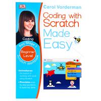 英文原版 DK系列儿童英语编程语言入门Coding With Scratch Made Easy Key Stage 1