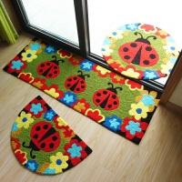 手绣地垫脚垫防滑垫 美丽花朵儿童可爱卡通地垫 门垫地毯 ML手绣精品--甲壳虫