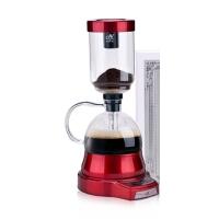 电动虹吸式咖啡壶家用 触屏玻璃虹吸壶 手动磨豆煮咖啡机套装