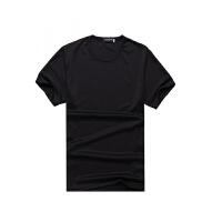 速干圆领短袖T恤定制班服工作服广告衫文化衫定做衣服印字印LOGO