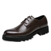 英伦男士商务休闲厚底内增高皮鞋百搭尖头发型师皮鞋韩版办公室鞋
