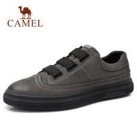 camel骆驼男鞋 秋季真皮休闲皮鞋男韩版潮流休闲鞋子男士英伦板鞋