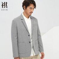 【1件2.5折到手价:97.3】CHIN祺休闲西装男薄款礼服男上衣单件青年韩版修身休闲小西服外套