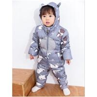 婴幼儿童羽绒服套装男女童宝宝轻薄羽绒内胆中小童两件套童装