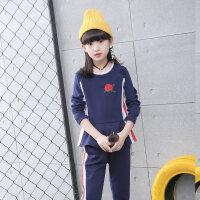 童装女童秋装套装2018新款韩版潮儿童洋气长袖衬衣裤子潮衣两件套
