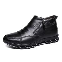 棉鞋男冬季保暖加绒皮鞋真皮羊毛加厚棉皮鞋皮毛一体高帮棉鞋真皮