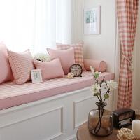 粉色韩式飘窗垫窗台垫子装饰卧室公主棉榻榻米定制阳台海绵坐垫