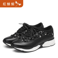 【领�幌碌チ⒓�120】红蜻蜓夏季新款运动韩版休闲百搭内增高轻便舒适透气女鞋