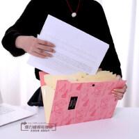 得力文件夹风琴包A4文件夹多层学生用收纳袋文件袋塑料试卷夹学生
