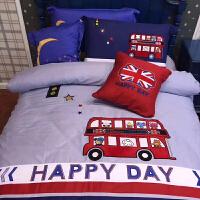 儿童纯棉床上用品三件套床单被套四件套全棉可爱女孩卡通男孩床品