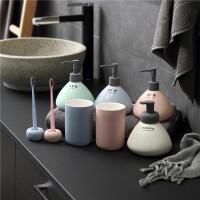 浴室用品套装陶瓷卫浴八件套浴室用品套件卫生间洗漱套装 北欧起泡瓶大号500ML