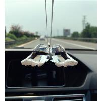 汽车挂件天使翅膀水晶时尚汽车挂饰女士车用汽车挂饰平安符挂件SN9287 +水貂毛