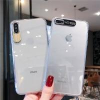 金属摄像头苹果x手机壳6/6s/8/xr/xsmax软iphone7plus透明iphonex