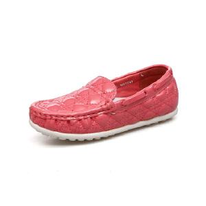 比比我新品新款儿童鞋2017春新款女童豆豆鞋女时尚皮鞋