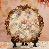 欧式家居饰品陶瓷摆设 创意客厅装饰品摆件 工艺品摆盘酒柜装饰盘