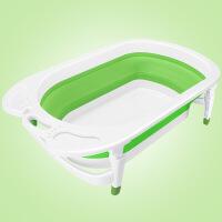 婴儿洗澡盆可折叠 儿童浴桶新生儿可坐躺通用宝宝折叠感温冲凉bb加大