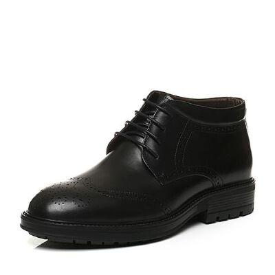 Belle/百丽冬季专柜同款黑色牛皮男鞋(毛里)4PX01DD6