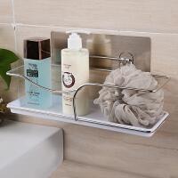 免打孔厨卫收纳沥水架 卫浴金属置物架浴室壁挂洗漱用品收纳架