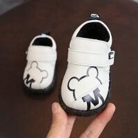 宝宝皮鞋卡通防水牛筋软底机能鞋男童婴儿学步鞋周岁单鞋0-1-2岁