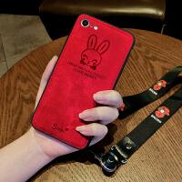 iphone8手机壳女苹果7plus保护套8plus硅胶防摔苹果7软布纹8p简约i8个性创意i7卡通