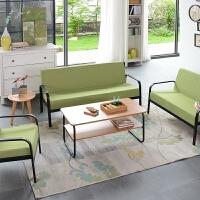 布艺沙发小户型现代简约北欧家具铁艺单人迷你沙发椅双人三人组合 ++
