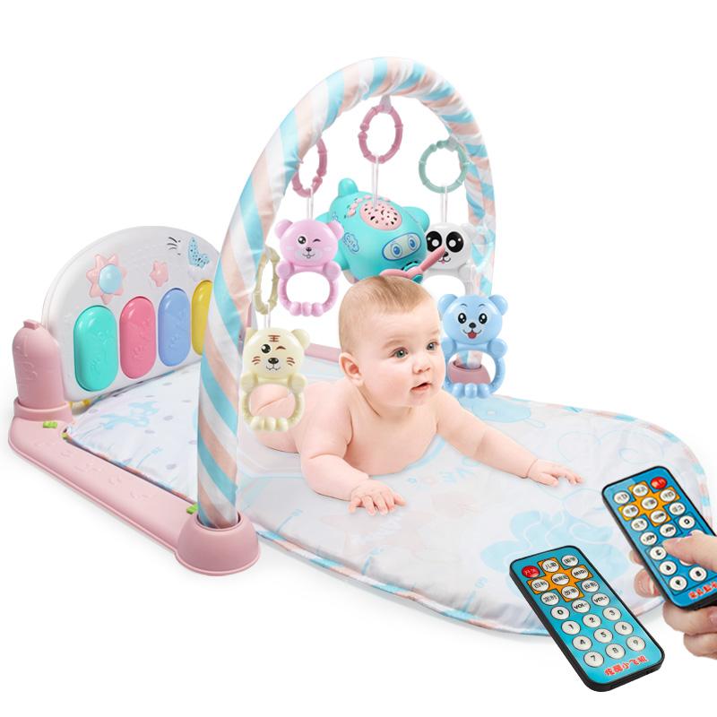 婴儿脚踏钢琴健身架器新生儿童宝宝玩具女孩0-1岁3-6-12个月男孩 抖音
