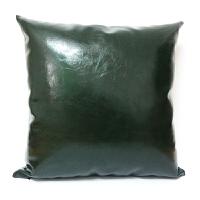 皮质抱枕沙发靠垫办公室皮靠垫靠枕床头软包靠背样板房抱枕定做