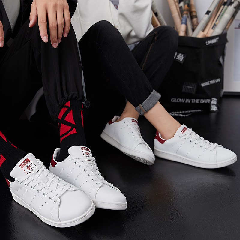 唐狮春秋季男女帆布鞋情侣低帮潮鞋滑板鞋休闲舒适男士女士韩版鞋子 裸价直降