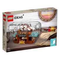 乐高5月新品Ideas系列 21313 典藏瓶中船 LEGO Ideas积木玩具