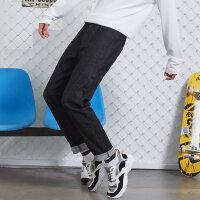 【1件3折价:71.7,可叠券】美特斯邦威牛仔裤男秋季潮流舒适腰头抽绳弹力男士修身裤