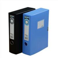 晨光 A4塑料档案盒 粘扣文件盒 资料盒 颜色随机发货 多款可选