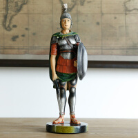欧式复古罗马盔甲士兵武士骑士模型工艺品特色人物家居装饰品摆件