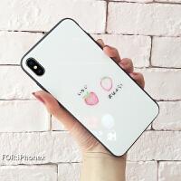 iphone7/7p/8/8p/x创意图案钢化玻璃手机壳
