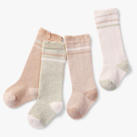 婴儿长筒袜子春秋纯棉宝宝中筒袜过膝松口新生婴幼儿长袜男女无骨