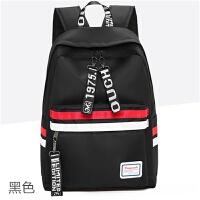 百搭初中学生书包女韩版校园森系大容量旅行背包帆布高中生双肩包