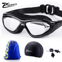 泳镜男士大框电镀近视潜水镜女士专业高清眼镜