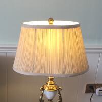 灯罩外壳配件米黄色椭圆布艺灯罩台灯落地灯客厅卧室床头田园欧式