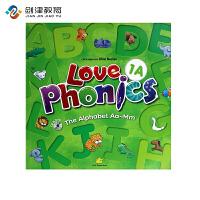 原装进口3-6岁 幼儿英语自然拼读phonics love phoncis 1A 台湾东西图书 零基础英语口音培训