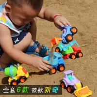 儿童迷你惯性工程车套装宝宝玩具小汽车吊车翻斗车压路机男孩玩具 赠运费险+小拼图+贴画