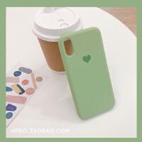 爱心纯色硅胶8plus苹果x手机壳XS Max/XR/iPhoneX/7p/6女iphone6s 6/6s 绿色