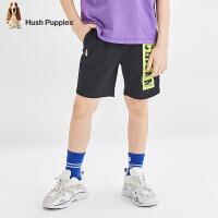 暇步士童装男童短裤夏装新款儿童五分裤撞色洋气棉中大童裤子