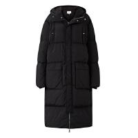 【2件1.5折价:300,可叠券】MECITY男装冬季新款黑色连帽及膝长款加厚羽绒服潮流