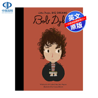 英文原版 小男孩,大梦想:鲍勃・迪伦 Bob Dylan 名人传记 Little People, Big Dreams
