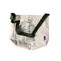 日系OK自制原创大容量男女生单肩书包袋KAWS芝麻街elmo斜挎帆布包